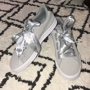 Puma Shoes - Puma suede blue/grey women's sneakers